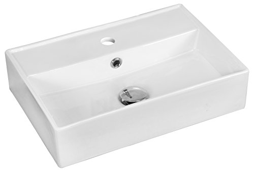 - American Imaginations AI-1328 Above Counter Rectangle Vessel for Single Hole Faucet, 20