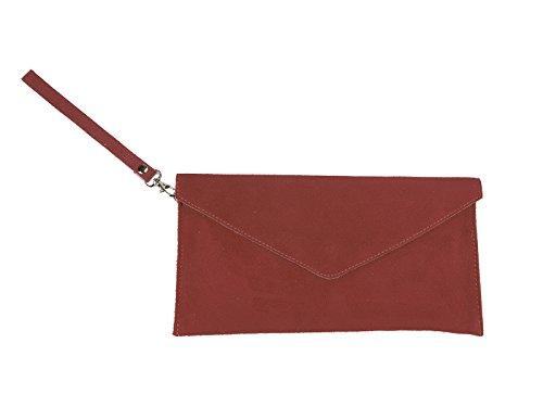 scarlet bijoux - Cartera de mano de Ante para mujer one size - dunkelrot