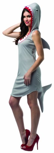 Halloween Costume Ideas With Cardboard (Rasta Imposta Women's Shark Dress Adult, Gray/Red/White, Size)