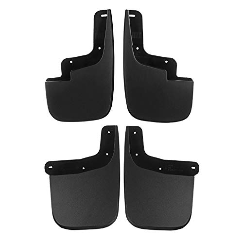 Set of 4 Front and Rear Splash Guard Mud Flaps for Chevrolet Colorado GMC Canyon 2015-2018 without Fender Flares