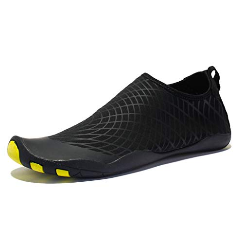(Lloopyting Couple Models Sports Stripes Diving Surf Beach Walking Yoga Skin Quick-Drying Shoes Black)