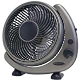 Soleus Air FTY-25G Table Fan with Rotating Grill