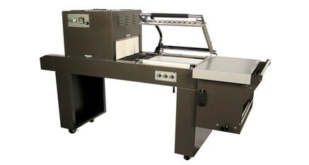 Truline TP-1519ECMC Shrink Wrap Machine w/ Heat Tunnel, Dual Magnetic Hold Down & Powered Discharge Conveyor by Truline