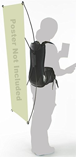 Aspire Backpack Banner Walking X Display and Flag Pole Billboard, Best Hands-free Marketing Product-X Display Billboard-2Packs by Aspire