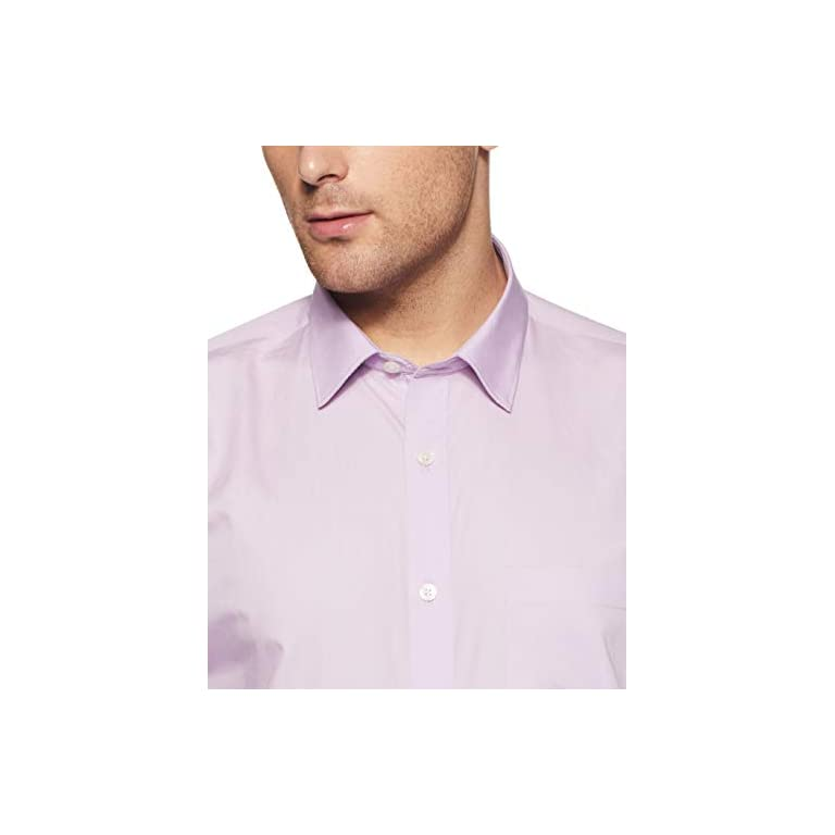 31F1QLYPjyL. SS768  - Amazon Brand - Symbol Men's Solid Regular Fit Full Sleeve Cotton Formal Shirt (Combo Pack of 2)