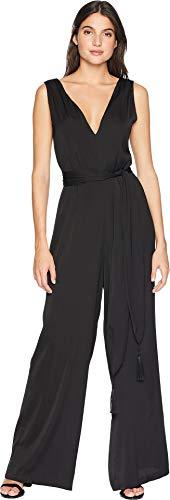 BCBGMAXAZRIA Women's Cahya Tie-Waist Jumpsuit Black Medium (Bcbgmaxazria Dress Women)