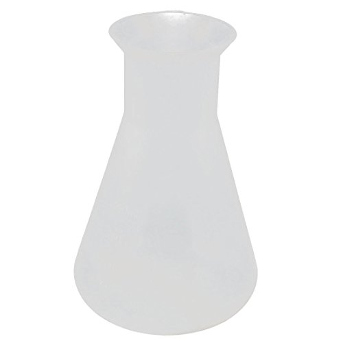 uxcell Plastic 250ML Chemistry Course Narrow Mouth Solution Measuring Erlenmeyer Flask by uxcell