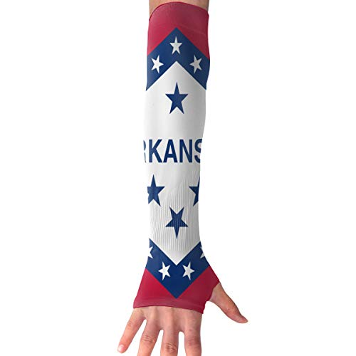 - RZM YLY Unisex Arkansas State Flag Arm Sleeves UV Sun Protective Multifunctional Tattoo Arm Gloves Long Sleeve Perfect for Running (1 Pair)