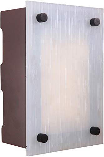 Craftmade ICH1605-AI Illuminated Chime System Rectangular Lighted LED Door Chime, Aged Iron (9.25
