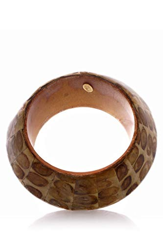 (Kenneth Jay Lane Tribal Brown Bangle )