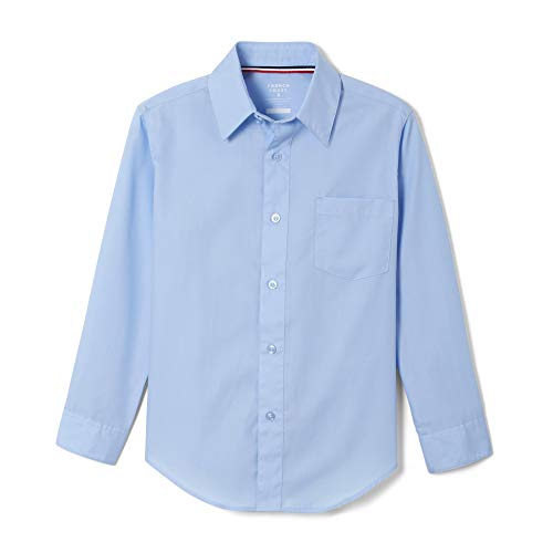 French Toast Little Boys' Toddler Long Sleeve Poplin Dress Shirt, Light Blue, 3T]()