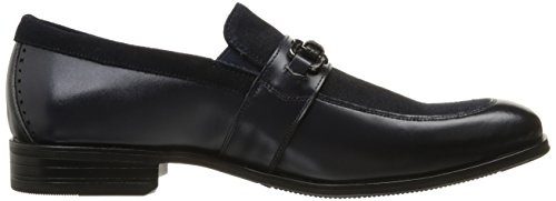 Stacy Adams Mens Mocassino Slip-on Slip-on Mocassino Blu Scuro
