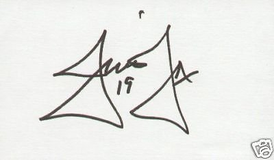 Jim Fox signed autographed 3x5 index card NHL Hockey