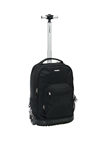 Rockland 19'' Rolling Backpack, Black by Rockland