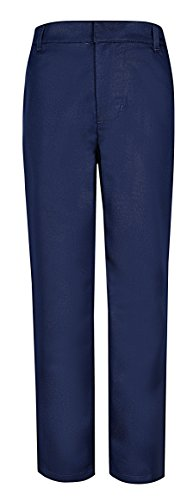 Polyester Uniform Pants - Bienzoe Boy's School Uniforms Stretchy Polyester Adjust Waist Dress Pants Navy 6
