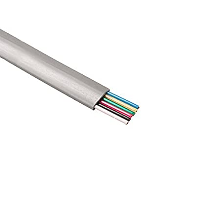 Wire Communication | Amazon Com 6 Conductor Modular Telephone Cable Flat Silver Satin 28