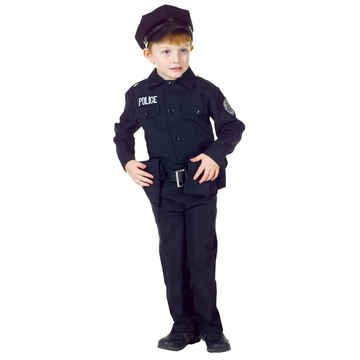 Policeman Costumes Kids (Underwraps Big Boy's Underwraps Boy's Policeman Costume Set, Medium Childrens Costume, black, Medium)