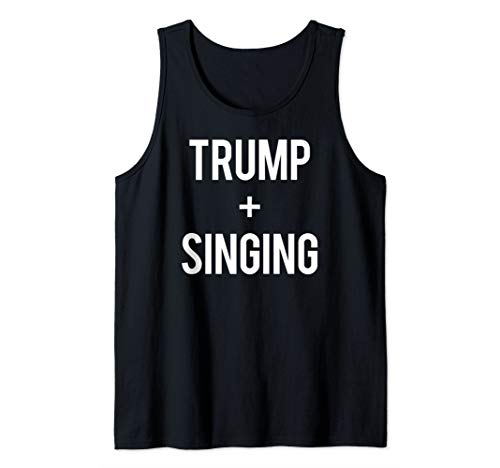 Love Trump And Singing Re-elect 2020 Election Singer Gift Tank Top