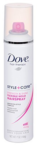 Dove Style + Care Flexible Hold Hairspray, Strong Hold 7 oz (Pack of 2)