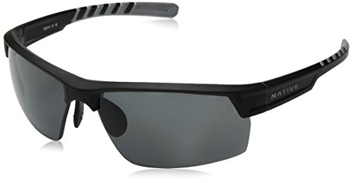Native Eyewear Catamount Sunglass, Matte Black/Crystal, Gray