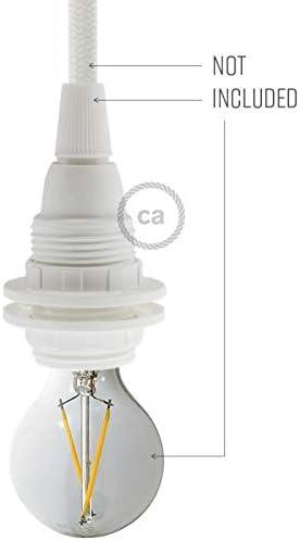 creative cables Kit Douille E14 en thermoplastique avec /écrou Double Bague pour Abat-Jour Blanc