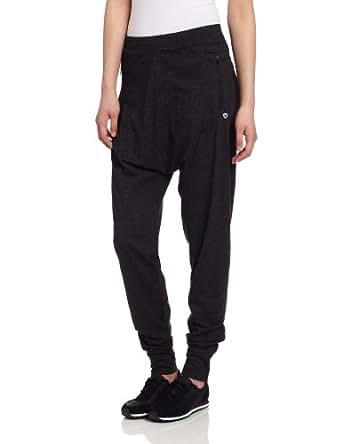 Colosseum Women's Pocket Baggy Sweatpant, Black Heather, X-Small