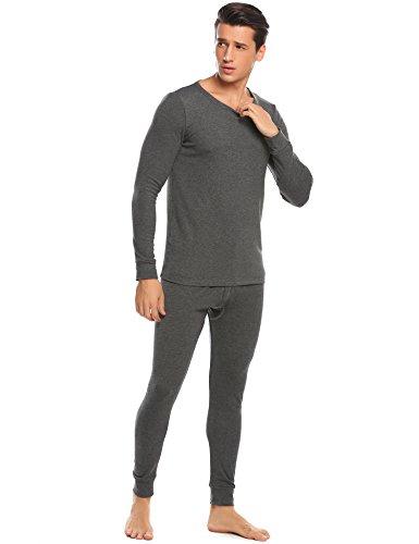 Avidlove Mens Cotton Long Johns Thermal Underwear Shirt and Pant 2PC Pajama Set