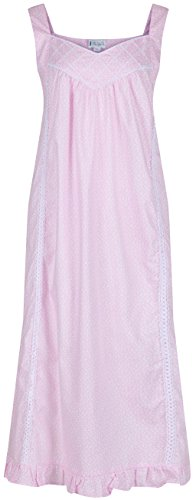 Nancy Cotton Victorian Sleeveless Nightgown product image