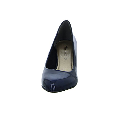 21 toe Patent Tamaris Navy Closed Women''s Pumps 22416 wFEEZqvO