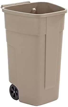 Rubbermaid contenedor movil beige.ruedas insertadas.hasta 75kg. 100l. 50.5x52.5x80 cm.