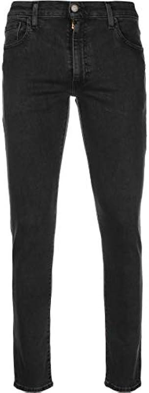 Levis® męskie dżinsy 512® - Slim Taper Fit - czarne - Richmond Black W27-W38 99% bawełna: Odzież