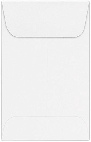 #1 Coin Envelopes (2 1/4 x 3 1/2) - 24lb. Bright White (250 Qty.) | Perfect for the HOLIDAYS, Weddings, Parties & Place Cards | Fits Small Parts, Stamps, Jewelry, Seeds | 94623-250 by Envelopes.com