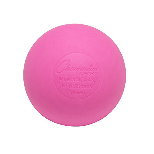 Champion Sports Colored Lacrosse Balls: Pink Official Size Sporting Goods Equipment for Professional, College & Grade School Games, Practices & Recreation - NCAA, NFHS and SEI Certified - 12 Pack ()