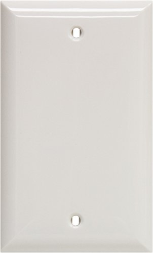 GE 40021 Single Blank Wall Plate, White - Jasco Wall Plate