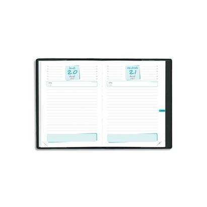 QUO VADIS Agenda scolaire 1 jour par page JUPITER 12x17 cm Couv Plast Noire - 2018/2019