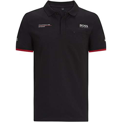 Porsche Motorsport Men's Team Black Polo w/Motorsport Kit
