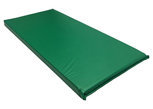 (KinderMat, Rainbow Designer Mat, Green, 2-Inch Thick Rest Mat)