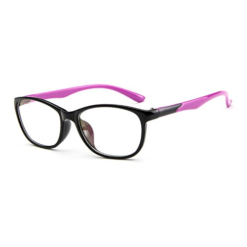 LOMOL Trendy Lightweight Student Style Transparent Lens Myopia Frame Glasses For Men&Women - Infrared Do Light Sunglasses Block