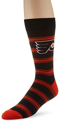 OTS NHL Philadelphia Flyers Male Shephard Dress Socks, Black, Large