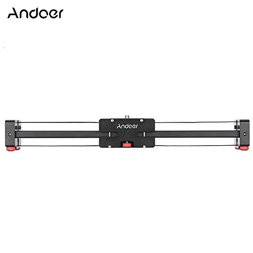 Andoer Camera Slider, Camera Video Slider Compact Retractable Track Dolly Slider Rail Retractable Stabilizer Aluminum Alloy Constructed for Canon Nikon Sony DSLR Camcorder V2-500 33.9