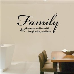 True Family Meaning Letter Quote Room Decor Decorative Removable Wall Art  Peel And Stick Decal Stickers