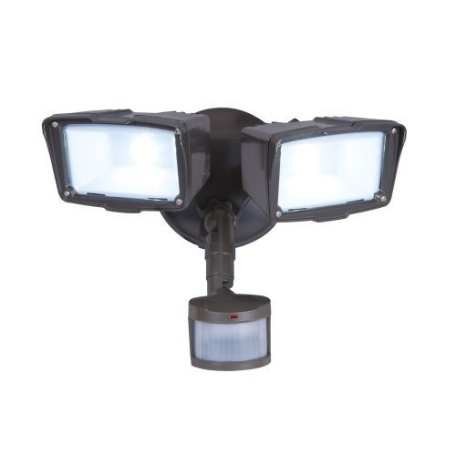 All Pro Outdoor Security MST18920LES Energy Star 180-Degree Motion Activated Twin Head LED Floodlight, Bronze by All Pro Outdoor Security by All Pro Outdoor Security