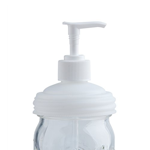 reCAP Mason Jars lid ADAPTA Dispenser Pump for Soap, Lotion, Condiments, Regular Mouth - Natural - Giant Condiment Pump