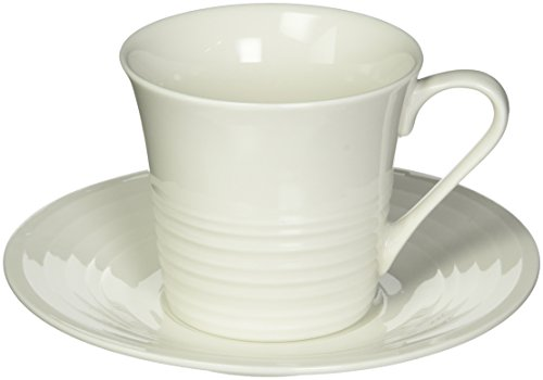 Maxwell and Williams Basics Cirque Cup and Saucer, 7.5-Ounce, White