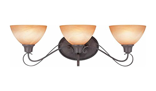 Volume Lighting V2663-53 Altamonte 3 Light Frontier Iron Bathroom Vanity Light ()