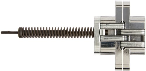SOSS 216IC Zinc Invisible Spring Closer for 1.375'' Doors, Bright Chrome Exterior Finish by SOSS