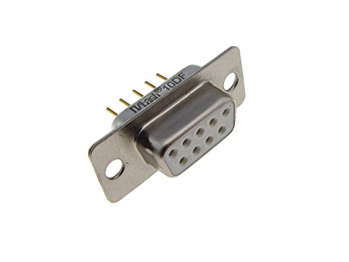 - HQ DB9 Female D-Sub Connector Through Hole Board Lock Solder Gold Termination