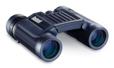 Black Plain Clam - Bushnell H2O 12x25 Black Folding Binoculars, Clam Pack 132105C