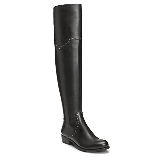 Aerosoles Women's West Side Over The Knee Boot, Black Leather, 8 M US by Aerosoles