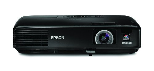 - Epson PowerLite 1730W WXGA Video Projector, Black (V11H271020)
